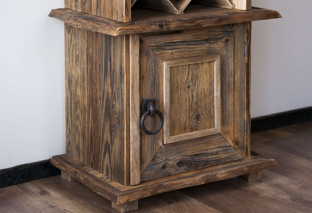 Reclaimed wood wine cabinets reclaimed wood for Wood cabinets