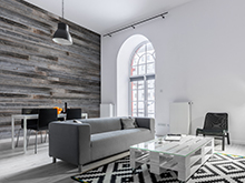Reclaimed wood wallcoverings